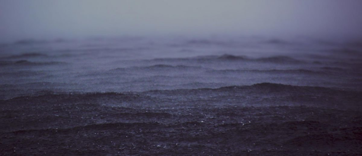 Rainy sea